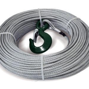 Ocelové lano pro naviják DOCMA Forest VF-310005, 5 x 80 mm a háček s pojistkou (VF150 - 5 )