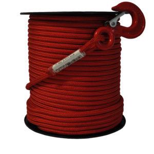 Vysoce pevnostní textilní lano pro naviják DOCMA, Forest VF-310207, 12 mm červené 2300 kg