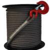 Textilní lano pro naviják DOCMA, vysoko pevnostní 10mm, Forest VF-310209, šedé 2200 kg (VF105 Red Iron)