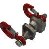 Dvojitý háček pro naviják DOCMA VF80 Bolt / VF105 Red Iron pro Forest VF-310211