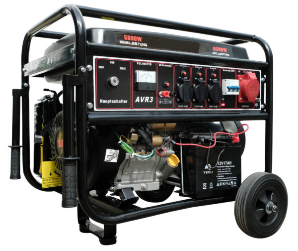 Benzínový generátor CRROSFER 6,3 KW 230 V + 400 V s elektrickým startem (100000693)